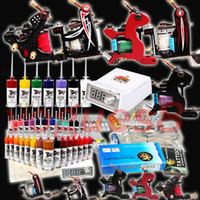 Wholesale Tattoo Kit New top Machine Guns Set Equipment Power Supply Color Inks D173 shipping from USA