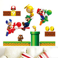 Wholesale 50 cm REMOVABLE SUPER MARIO Wall Sticker Decal Kids Wall Stickers Decals Nursery Decor
