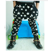 Wholesale boys pant star pant harem trousers casual pant black underpant fleece added warm pant KIDS PANTS V3