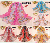 Wholesale 10pcs NEW fashion The woman scarf Gradual change color silk scarves textile printing scarf