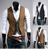 Wholesale 2013 abar Fashion men s Vests Slim Vest Outwear casual vest M L XL