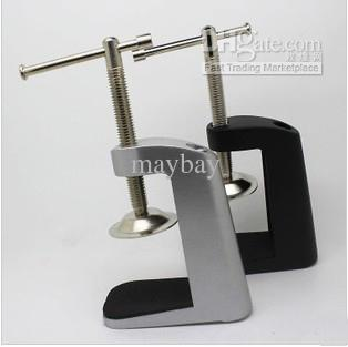 Desk Lamp Clamp: Lamp fixing base clamp / LED desk lamp accessory black,Lighting