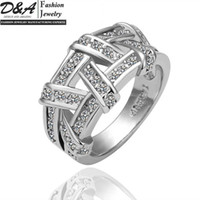 Wholesale Hot Sale Fashion Jewelry K White Gold Plated Crystal Wedding Rings For Women JZ062