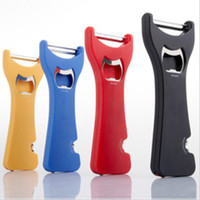 Wholesale 5 IN ONE CUTTER Multi purpose Bottles Opener Wine Corks Spiral Bevel Can Openers Three In One