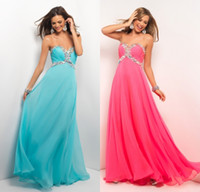 Reference Images Sweetheart Chiffon Beaded Ruched Sweetheart Chiffon Prom Dress Formal Evening Pageant Party Dresses Aqua Hot Pink 9516