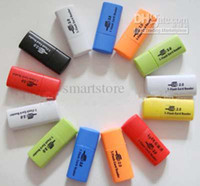 Wholesale 500pcs Mini USB Card Reader Professional Micro SD TF T Flash Card Reader Writer