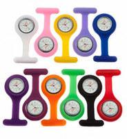 Wholesale Multi Color Case Pocket Brooch Style Pin Watch for Nurses New