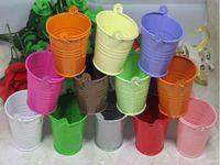 Wedding Candy tin bucket tin box Free shipping tin box Mini Pail Mint Tin Wedding Favors