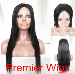 Wholesale Cheaper Light Yaki B quot Brazilian Virgin Human Hair Glueless Cap Machine Made Wigs JZ B
