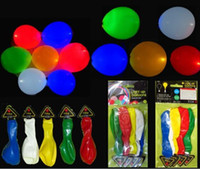 Wholesale 100pcs Inflatable LED Light Up Balloons Wedding Party Christmas Kids Toy Color Y062