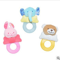Wholesale Baby Tooth Gel Infant Toys Boys Girls Handbell Rabbit Bear Elephant Babys Gutta Percha4411