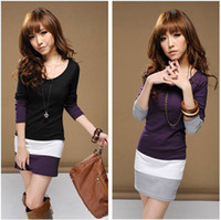 Wholesale New Women s Long Sleeve Clubbing Cocktail Bodycon Party Mini Dress