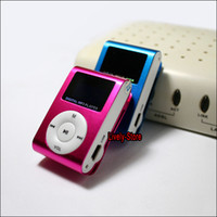 By DHL 100pcs Mini clip mp3 player card mp3 with lcd screen ...