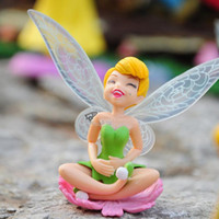 Beautiful faery  tinkerbell - 3 High Quality PVC Figure Toy Tinkerbell Fairy Adorable Figures set Action Figures