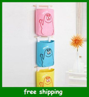 Wholesale Cartoon Pouch Wall Hanging Storage Bag door back Pockets container box holder Gifts