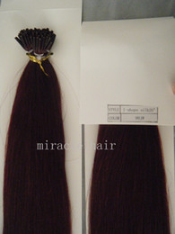 """Wholesale Stick I Tip Wholesale - 18"""" 0.8g 20"""" 22"""" 1g 100g pack 99j# Keratin Glue Stick I Tip Hair Extensions INDIAN REMY in stock T"""
