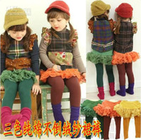 Girl Spring / Autumn Leggings & Tights New Fashion Children Culottes-Girls - Do not fall cashmere yarn divided skirts-girls culottes A++