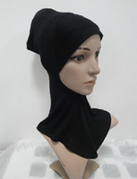 Wholesale H002 lastest plain ninja underscarf hijab fast delivery mixed colors