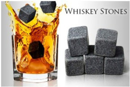 2012 NEW! Whiskey stones 6pcs set+velvet bag 10sets/lot, whisky rock sipping stone, free by DHL!