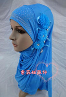 Wholesale H003 lastest muslim flower hijab fast delivery mixed colors