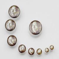 Wholesale christmas white fashion bob marley logo ear flare plug body jewelry hot style