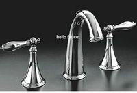 Chrome bathroom set ceramic - faucet luxury set mixer bathroom chrome tap good hr04