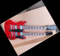 Solid Body 12 Strings Mahogany 110226 Led Zeppeli Page 1275 Double Neck red body 12 6 strings guitar Free shipping 2012