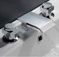 Thermostatic Faucets bathroom faucets sets - Faucet set Bathroom Basin Chrome Mixer Tap hr06