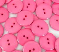al por mayor prendas de vestir botones-23mm 2 agujeros Botones rosados, accesorios de la ropa