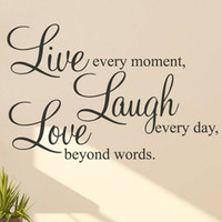 Wholesale Live Laugh Love Inspirational Wall Sticker Home Art Decal Decor