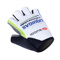 Wholesale 2012 Liquigas Bicycle Team Cycling D Solid silica gel Half Finger Gloves S XL