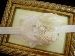 Wholesale Baby Headband love baby Shabby flower headband newborn headband Satin Rosette Headband