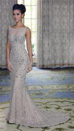 Wholesale 2013 Sexy Babyonline Mermaid Evening Dresses Tulle Sleeveless Beaded Prom Dresses Wedding Dresses