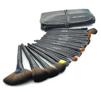 Wholesale Fashion Pics set Professional Makeup Tools Cosmetic Makeup Brush Set Kit Free Black Roll Up Bag