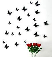 Wholesale funlife FUNLIFE Produce PVC d decorative butterflies can bend to vivd black FF3B003