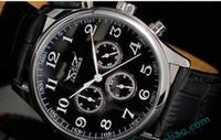 Sport designer watches men - hot jaragar automatic Master luxury men leather watches mechanical black mens designer wristwatch