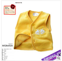 12-18 Months baby Boys and girls Month pin pieces make popularity qiu dong coral cotton open chest buckle baby ma3 jia3 cardigan wais