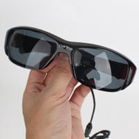 Wholesale 5M MP3 sunglass spy sunglasses camera x P HD Camera Fashion Eyewear pinhole spy glass DVR