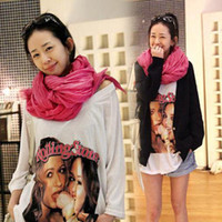 Wholesale Korean autumn and winter shawl solid color cotton the wild folds oversized super long women scarves