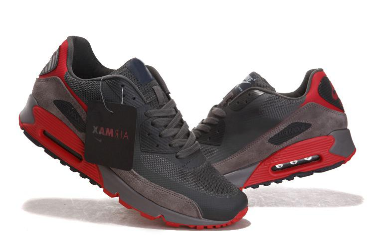 Cheap For Sale Nike Air Max 90 Men Shoes Online Black White Red