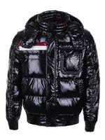 Wholesale Men down coats England stylish detachable hooded downcoat goose down in elastic hem