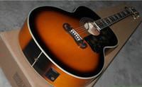Wholesale acoustic Dreadnought guitar Vintage Sunburst color Fishman presys blend Pickups