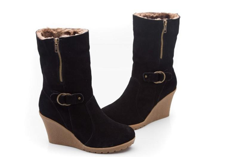 Black Wedge Heel Snow Boots | Santa Barbara Institute for ...