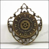 antique metal clock - Charm The clock Pendant Antique bronze Alloy Fit Bracelet amp Necklace DIY Metal Jewelry