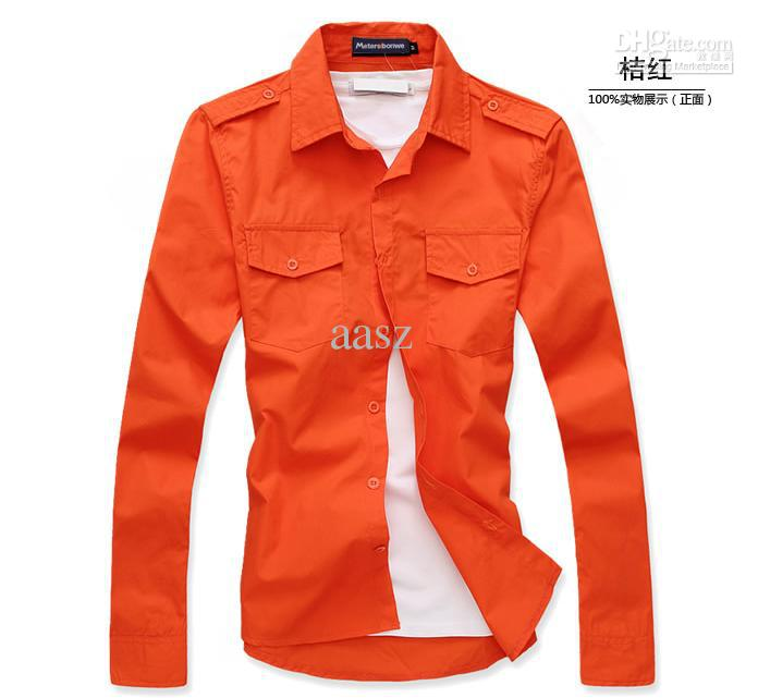 Korean Long Sleeve Shirt Long-sleeved Shirt Slim