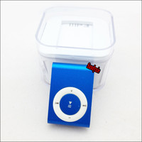 Wholesale Free DHL Mini Clip MP3 player metal clip mp3 w TF slot MP3 USB Earphone Box Free DHL