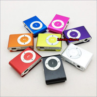 DHL 1000pcs mini clip mp3 player with TF slot Metal clip mp3...