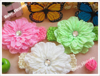 Hairband Lace Solid 30pcs Baby Peony Flower + Hair Alligator Clip + Snap Back Headband Kids Hair Accessory Hair Elastic