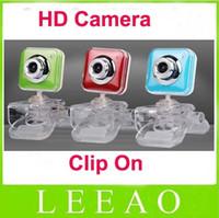 Wholesale 50pcs HD Crystal Clip on Mini Webcam USB Camera For Laptop Notebook Clip