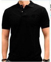 Men Short Sleeve Cotton Blend Hot Sell Black Solid Colors Men's Short Sleeve Shirts embroidery T-Shirt~Size: XS-- XXXXL -L1